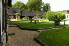 Werkbezoek aan Domaine Christian Drouin Calvados tuin