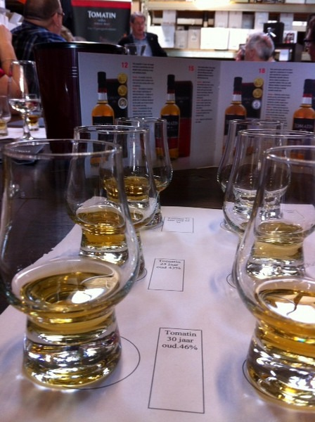 Whisky Tomatin proeverij 6 samples