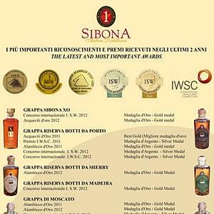 De prijswinnaars van Grappa Sibona