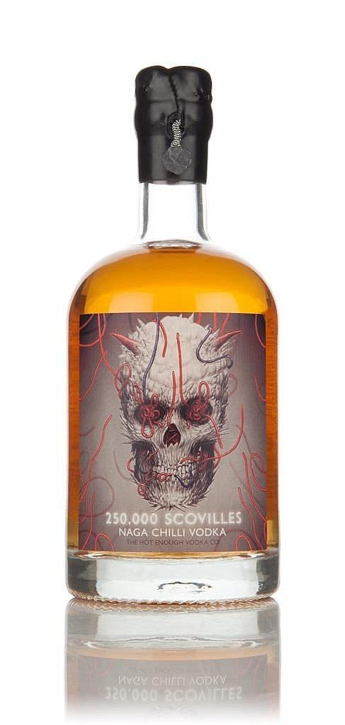 Fles - Vodka - Master of Malt - Naga Chilli - 250.000 Scovilles - 0,5l - 40%