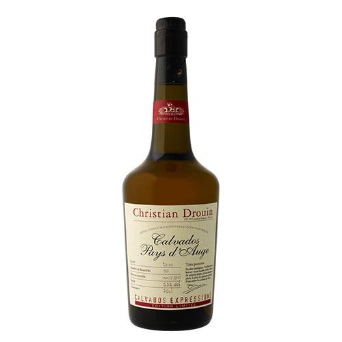Fles - Calvados - Christian Drouin - Tres Pomme - Pays d'Auge - 0,7l - 53%