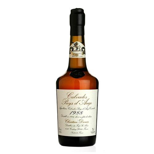 Fles - Calvados - Christian Drouin - Millésime 1988 - Pays d'Auge - 0,7l - 42%