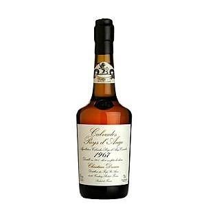 Fles - Calvados - Christian Drouin - Millésime 1967 - Pays d'Auge - 0,7l - 42%