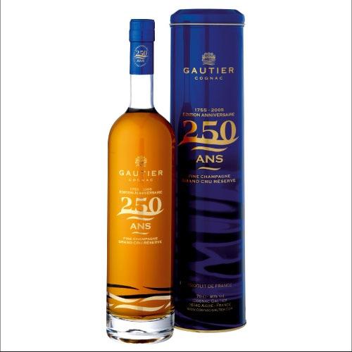 Fles & Case - Cognac - Gautier - Anniversary 250y - 0,7l - 40%