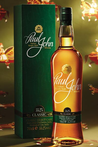 Fles & Case - Whisky - Paul John India - Classic Select Cask - 0.7l - 55,2%