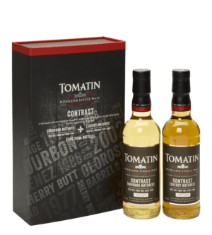 2xFles & Case - Whisky - Tomatin - Contrast -Limited - 2x0,35l - 46%