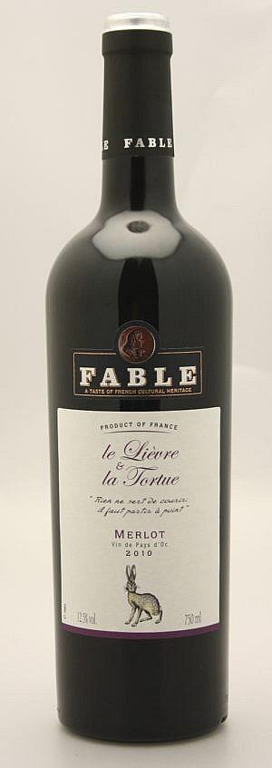 Fles - Wijnen - Frankrijk - Fable - Le Lievre & La Fortune - Merlot - 0,75l - 13%