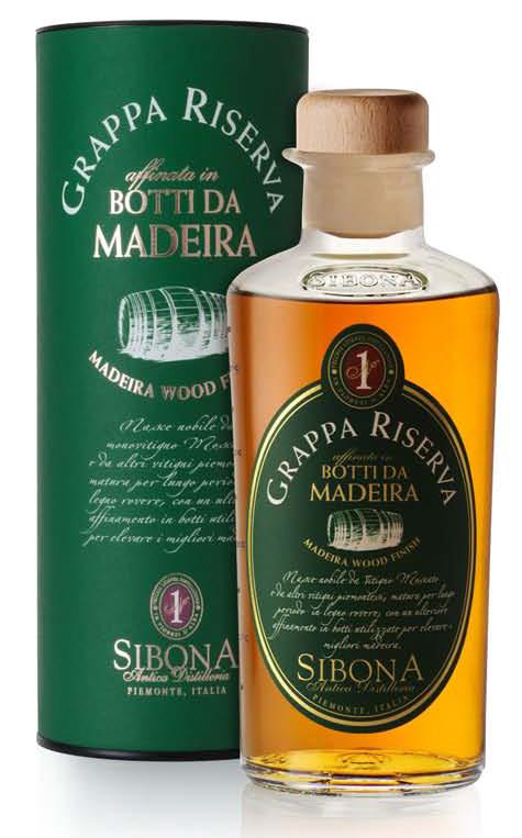 Fles - Grappa Riserva - Sibona - Botteda Madeira - 0,5l - 44%