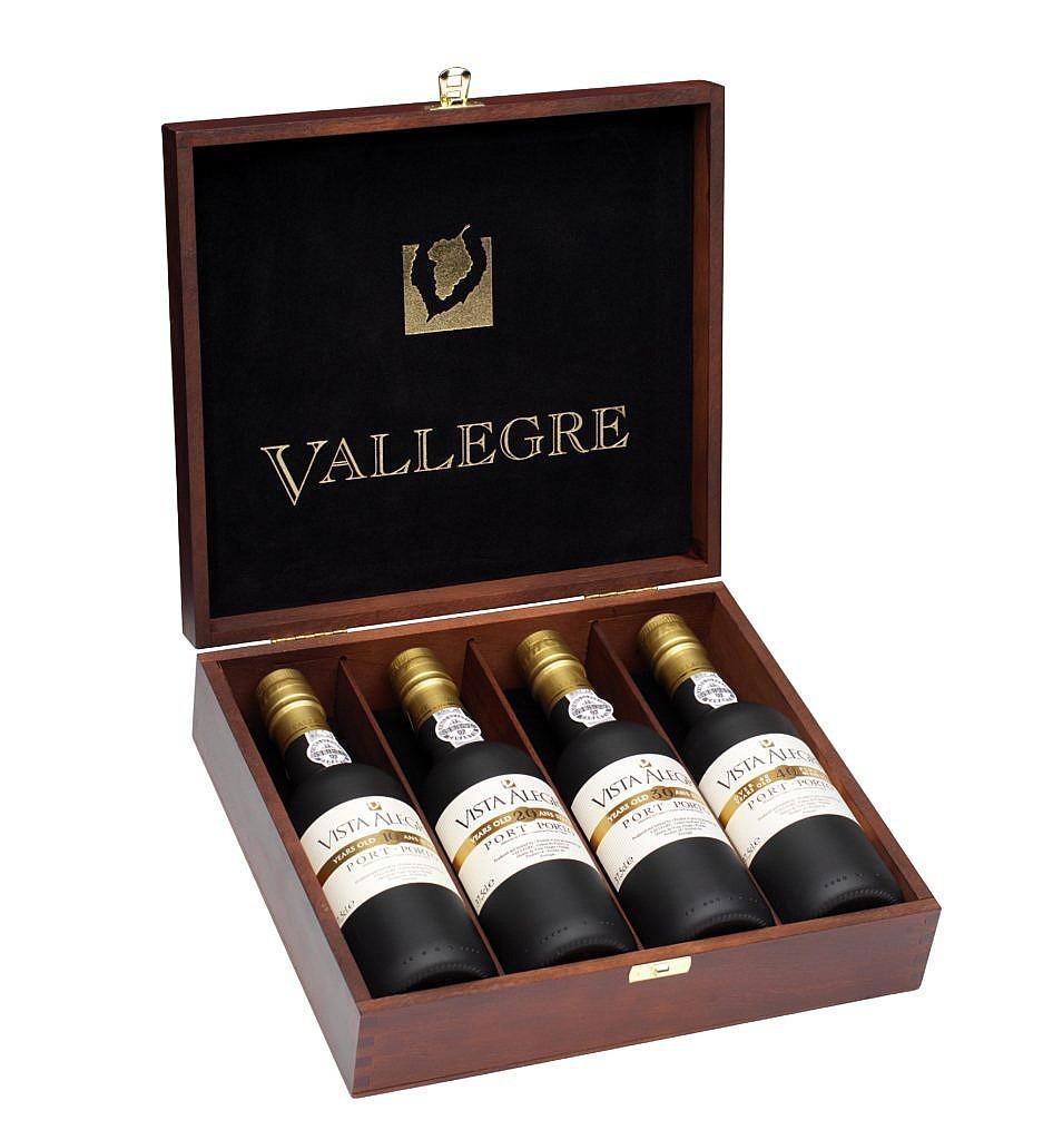 4 Flessen in luxe kist - Port - Vista Alegre - 10, 20, 30 & 40y - 4x0,375l - 20%