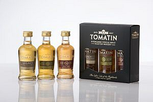 3 Flesjes & Case - Whisky - Tomatin - Miniature Triple Pack - Highland - 44% - 0,15l