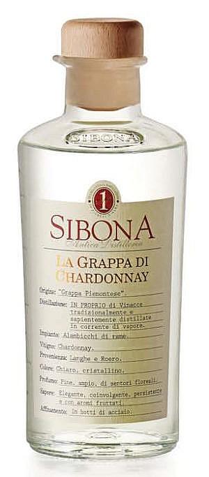 Fles - Grappa - Sibona - La Grappa di Chardonnay - 0,5l - 42%