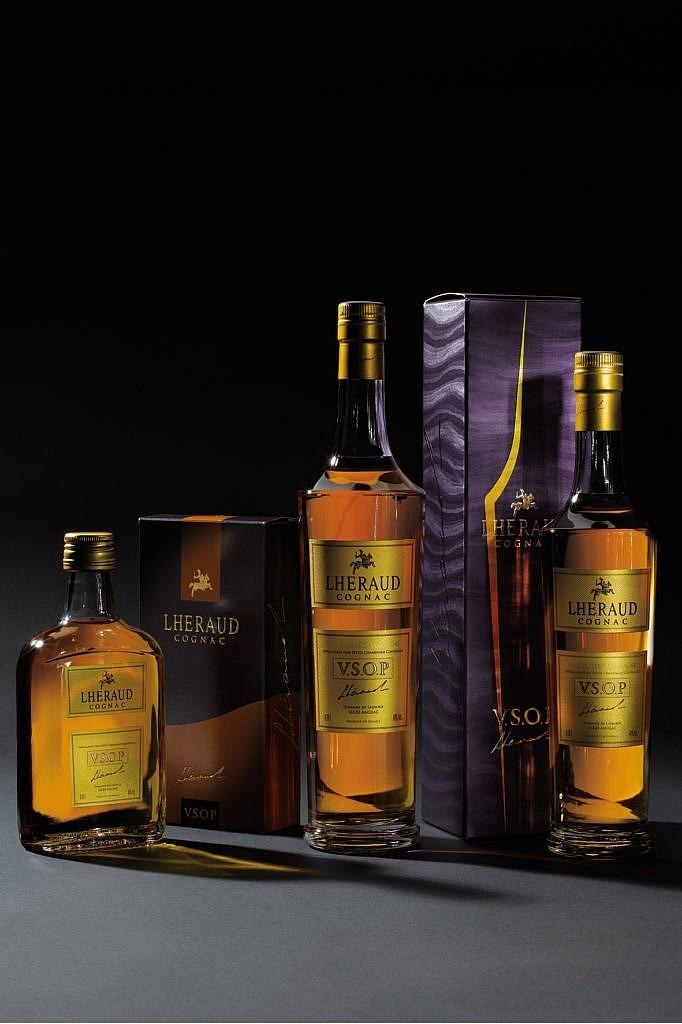 Fles & Case - Cognac - Lhéraud -VSOP - 0,7l - 40%