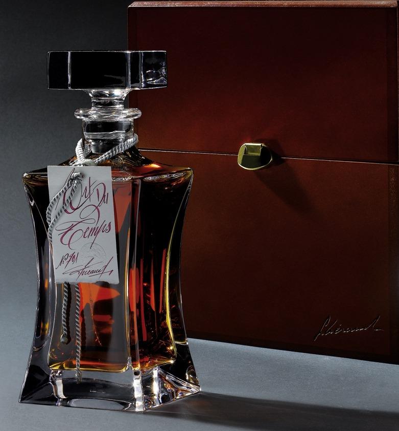 Fles - Cognac - Lhéraud - Du Temps - Karaf Kristal - 0,7l - 44%