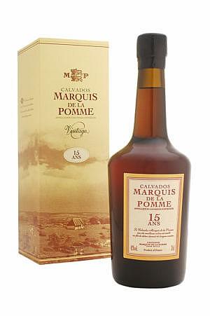Fles - Calvados - Coquerel - 15y old - Marquis De Pomme - 0,7l - 42%