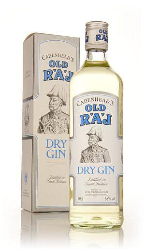 Fles & Case - Dry Gin - Cadenhead's - Old Raj Gin - 0,7l - 55% (2)
