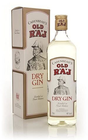 Fles & Case - Dry Gin - Cadenhead's - Old Raj Gin - 0,7l - 46% (2)