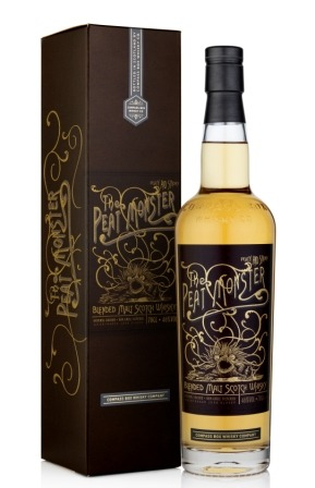 Fles & Case - Whisky - Compass Box - The Peat Monster - Blended Malt 10-15y - 0,7l - 46%