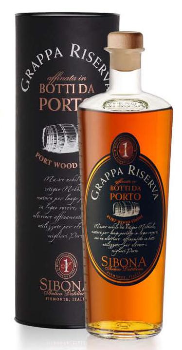 Fles - Grappa Riserva - Sibona - Nebbiolo Porto Wood Finish - Magnum - 1,5l - 44%