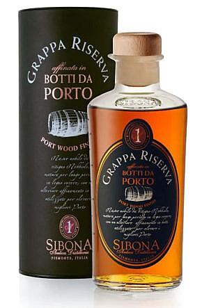 Fles - Grappa - Sibona - Nebbiolo Porto Wood Finish - 0,5l - 44%
