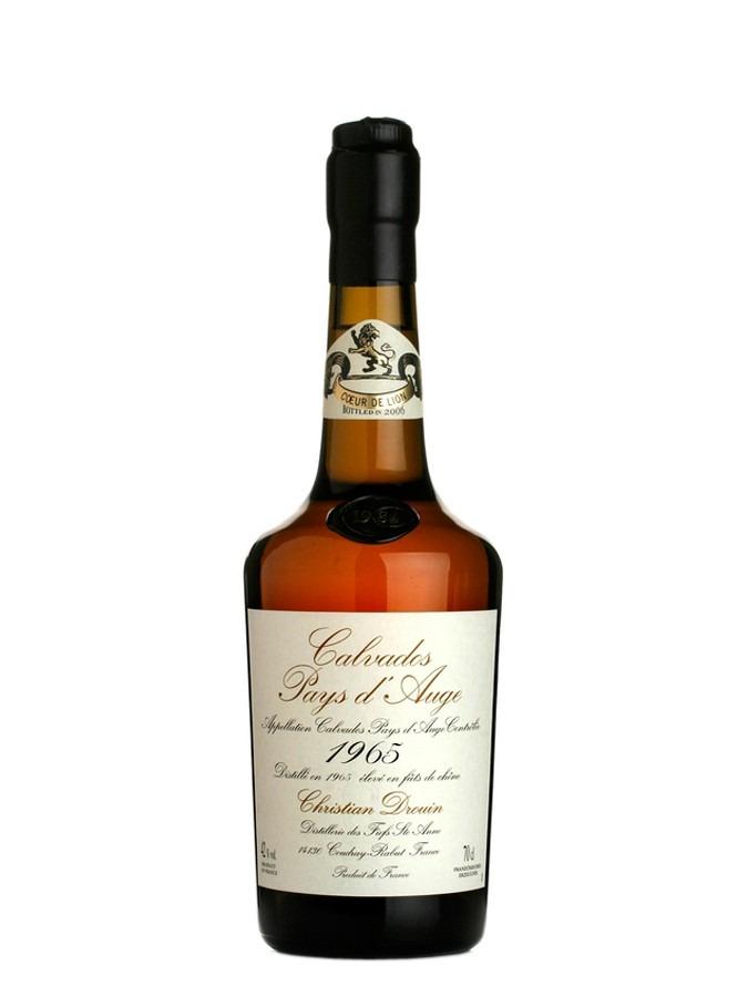 Fles - Calvados - Christian Drouin - Millésime 1965 - Pays d'Auge - 0,7l - 40%