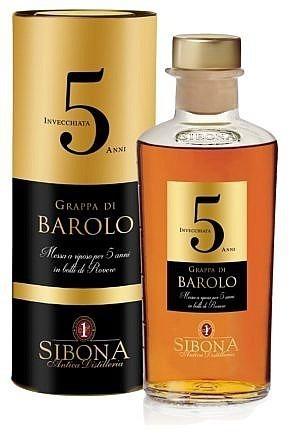 Fles & Case - Grappa Sibona Barolo 5 Y - 0,5l - 44%