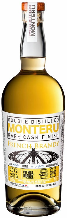 Fles - Brandy - Monteru - Pot Still - Brandy Sauternes Cask Finish - 0,70l - 41,3%