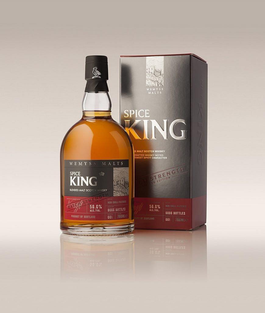 Fles & Case - Whisky - Wemyss Malts - Spice King - 0,7l - 54,5%