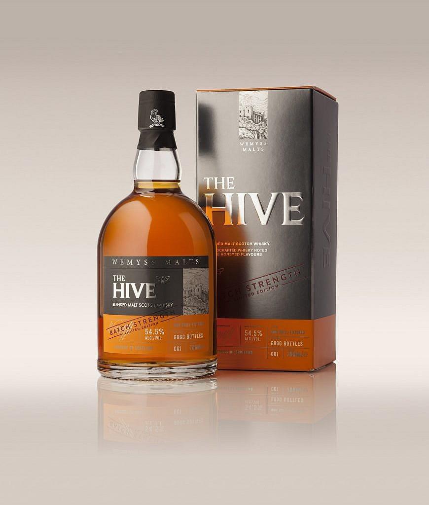 Fles & Case - Whisky - Wemyss Malts - The Hive - Batch Strength - 0,7l - 54,5%