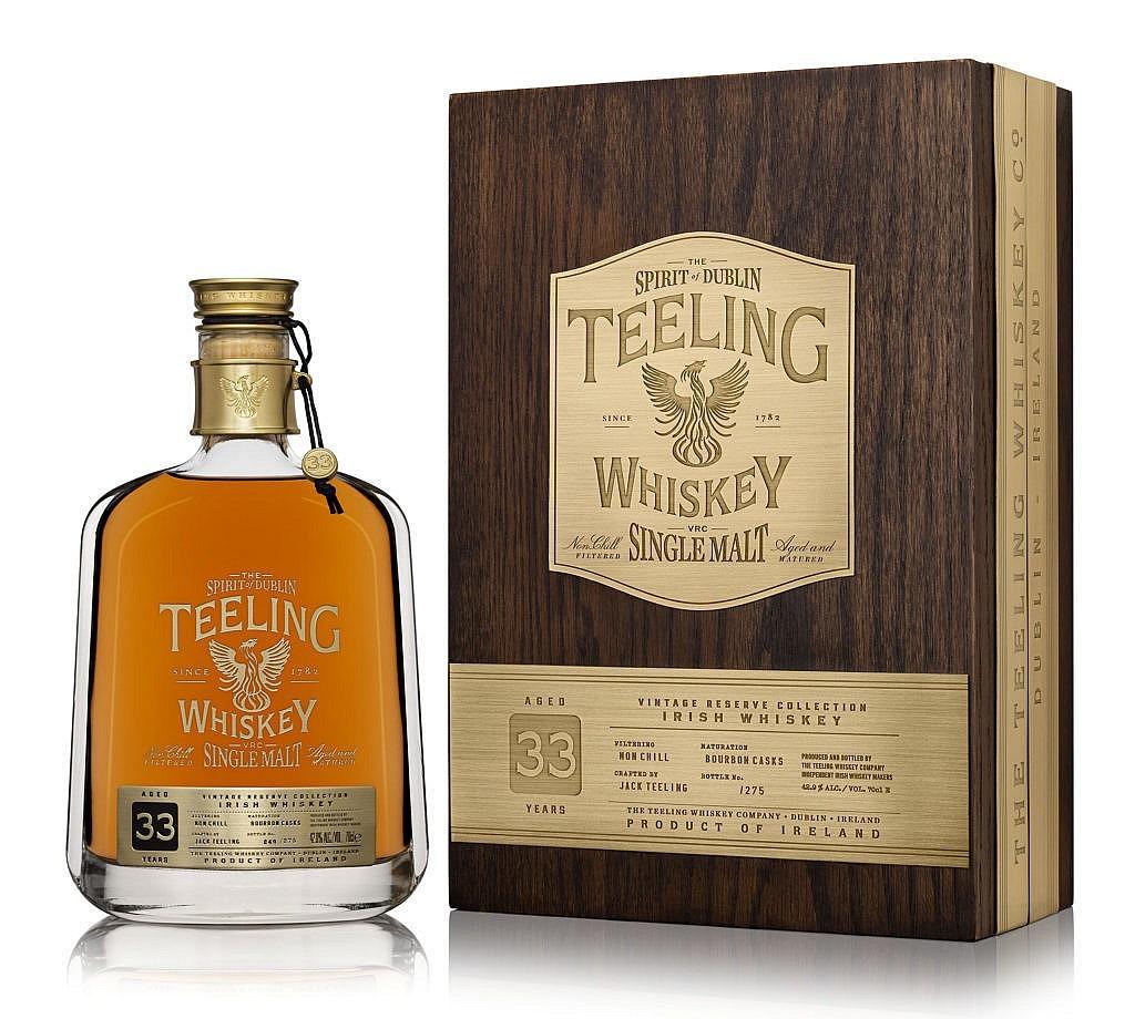 Fles & Mooie case - Whisky - Teeling - 33yrs - 0,7l - 42,9%