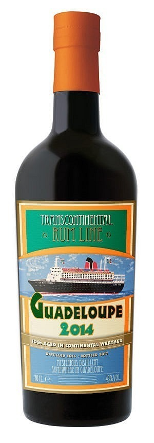 Fles - Rum - Transcontinental Rum Line - Guadeloupe - 2014 - 0,7l - 43%