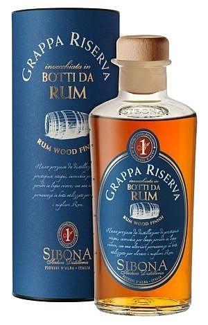 Fles & Case - Grappa - Sibona - Wood -Riserva Rum FInish - 0,5l - 44%