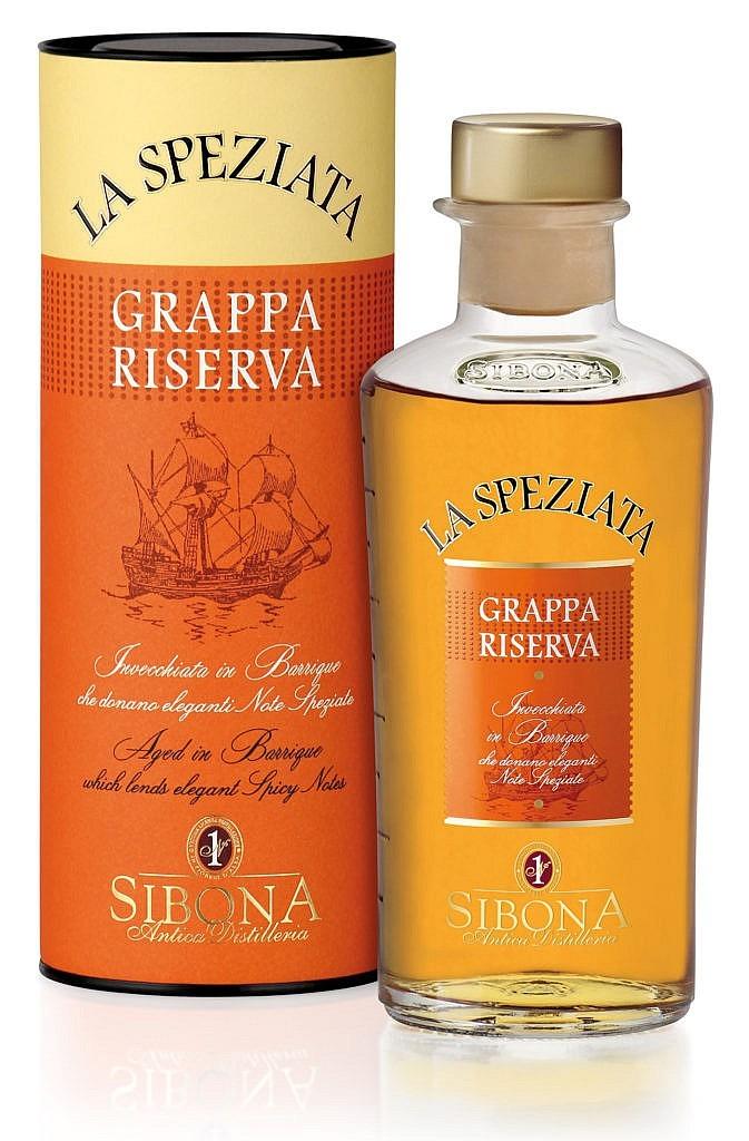 Fles & Case - Grappa - Sibona - Wood - La Speziata - Antica.- 0,5l - 44%