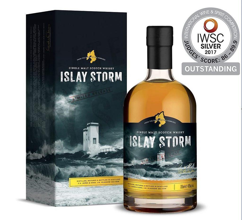 Fles & Case - Whisky - Islay Storm - Single Malt - 0,7l - 40%
