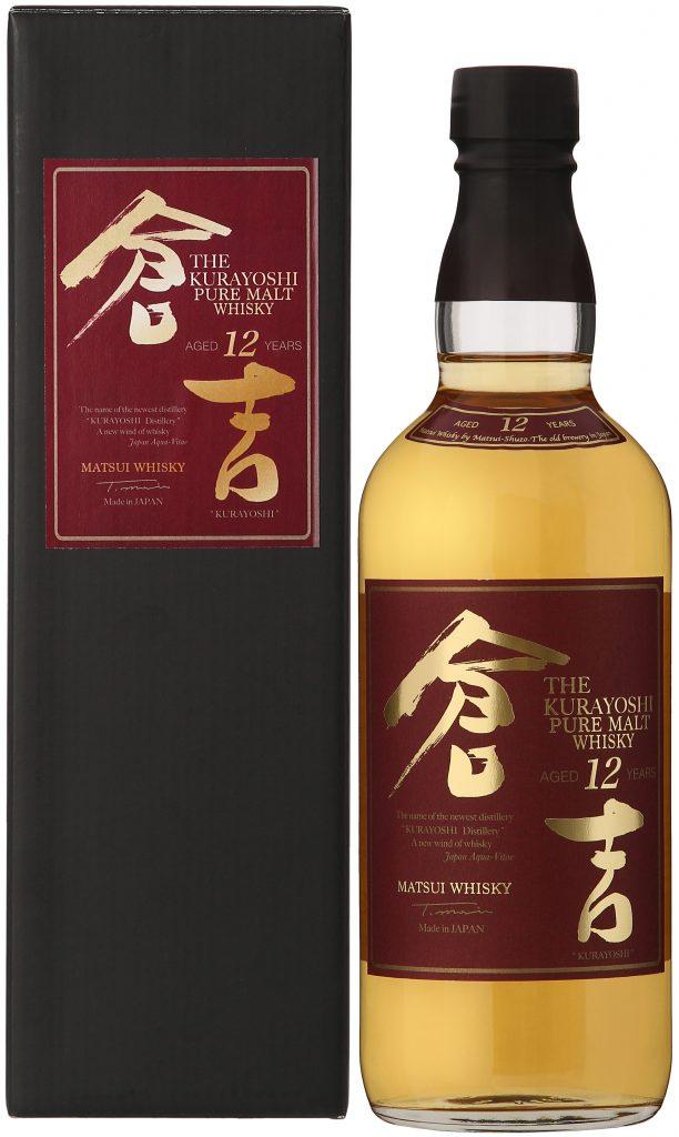 Fles & Case - Whisky - Japan - Kurayoshi 12 yo Pure Malt - Matsui - 43% - 0.7l