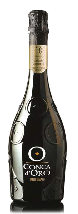 """Fles - Wijnen - Italië - Prosecco - Conca d'Oro - Spumante Millesimato Extra Dry 18"""" - 0,75l - 11,5%"""