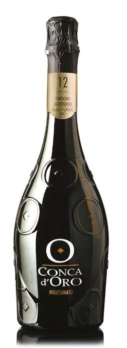 """Fles - Wijnen - Italië - Prosecco - Conca d'Oro - Spumante Millesimato Extra Dry 12"""" - 0,75l - 11,5%"""