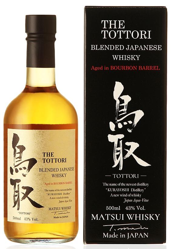 Fles & Case - Whisky - BBC Japan - The Tottori - Blended Bourbon Barrel - Matsui - 0,5l - 43%