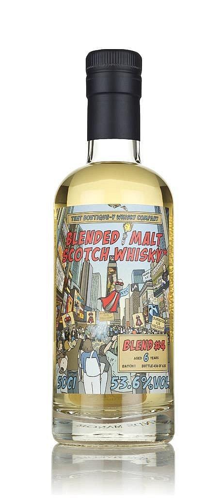 Fles - Whisky - That Boutique-y Whisky Company - Blended Malt - 6 jaar - Batch 4 - 0,5l - 53,6%