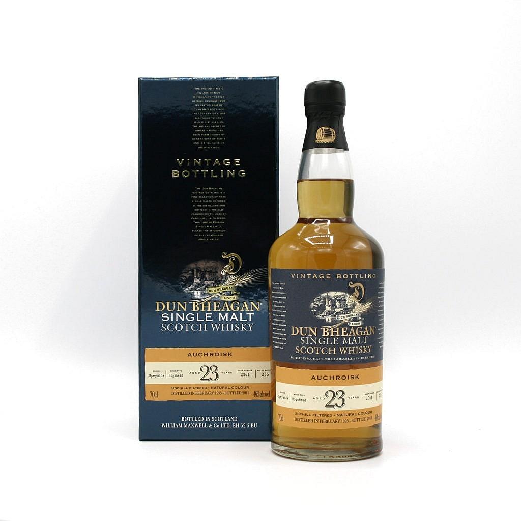 Fles & Case - Whisky - Dun Bheagan - Auchroisk - 23y - 0,7l - 46%