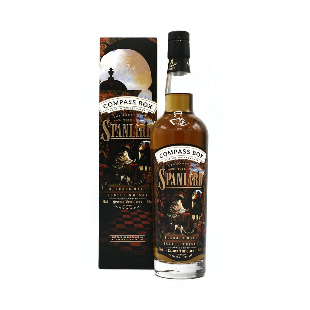 Fles & Case - Whisky - Compass Box - The story of the Spaniard - 0,7l - 43%