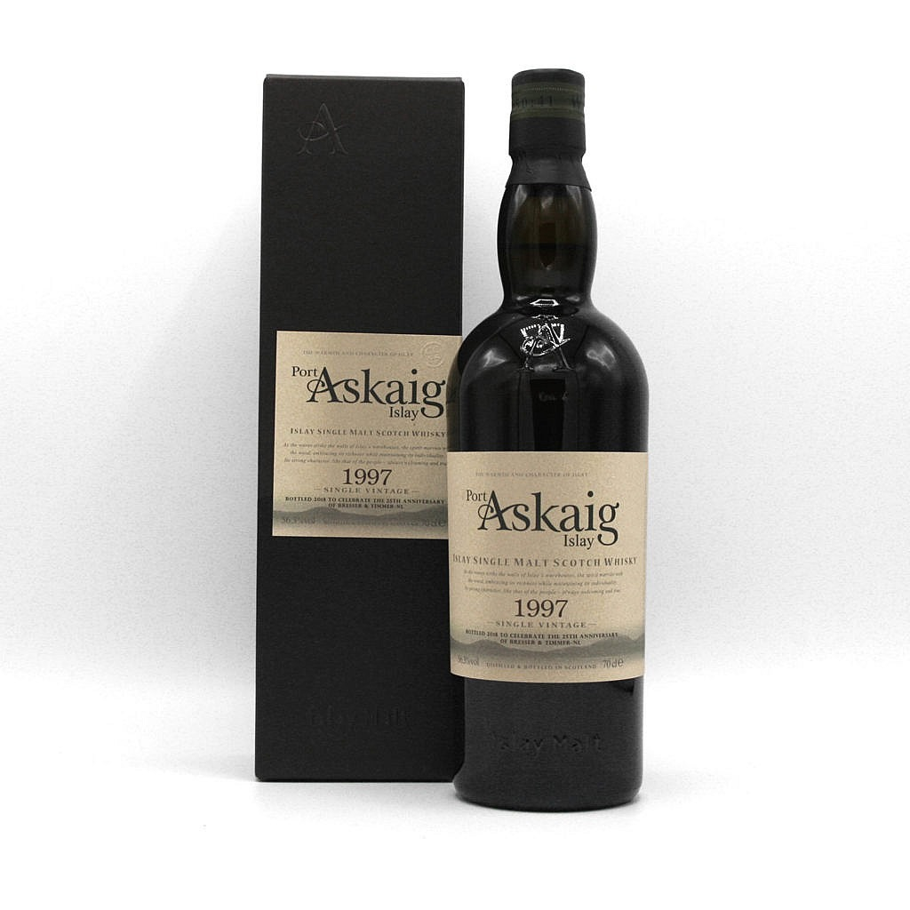 Fles - Whisky - Port Askaig - 1997 - 25th anniversary edition - 0,7l - 56,3%