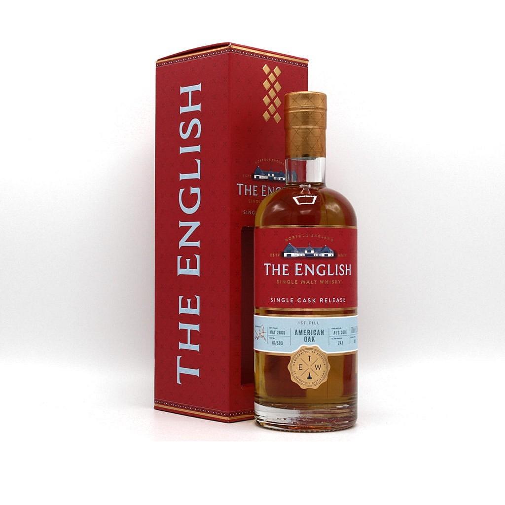 Fles & Case - Whisky - The English Whisky Company - Red Range - CS 10 yrs- American Oak - 0,7l - 58,1%