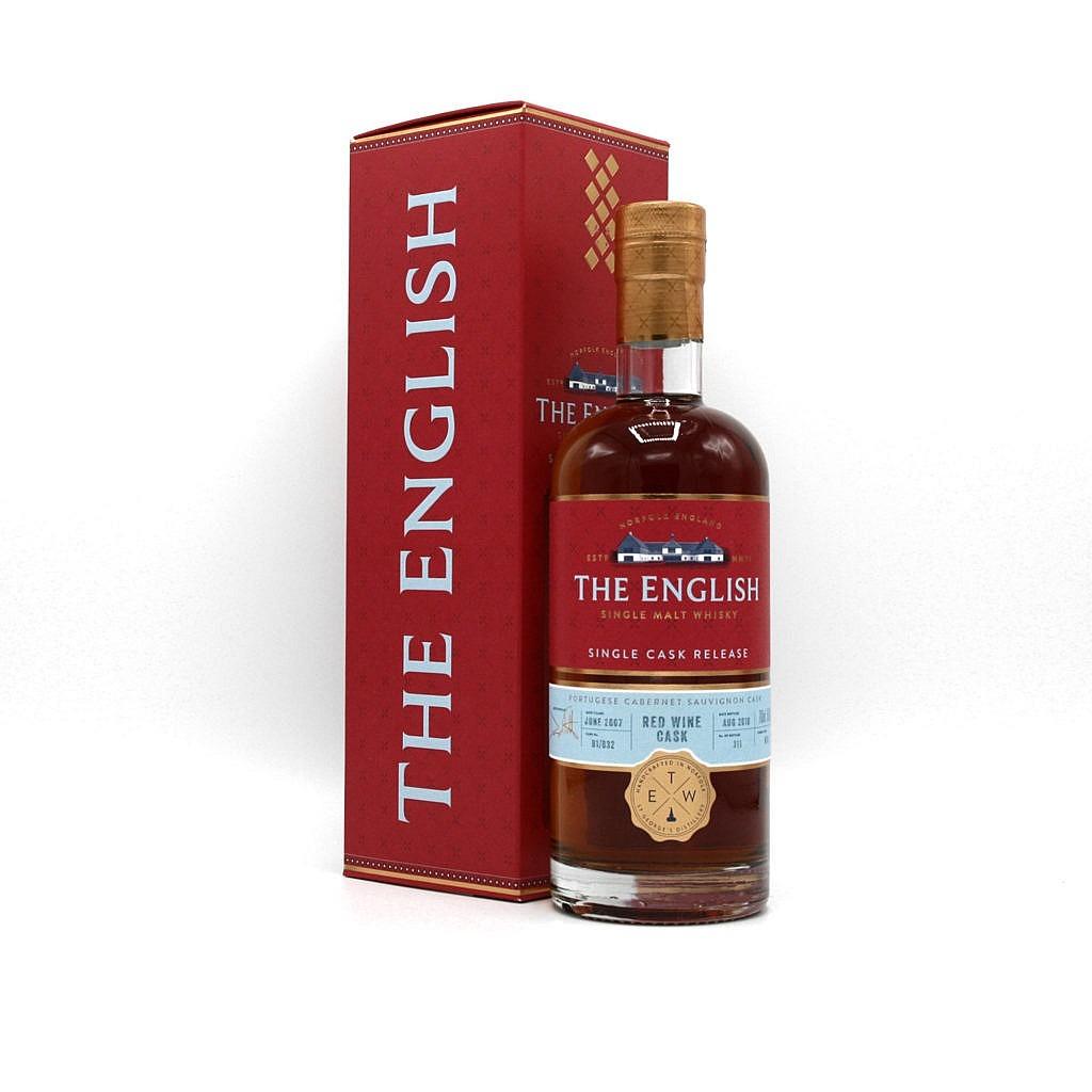 Fles & Case - Whisky - The English Whisky Company - Red Range - Portuguese Cabernet Sauvignon - 0,7l - 56,8%