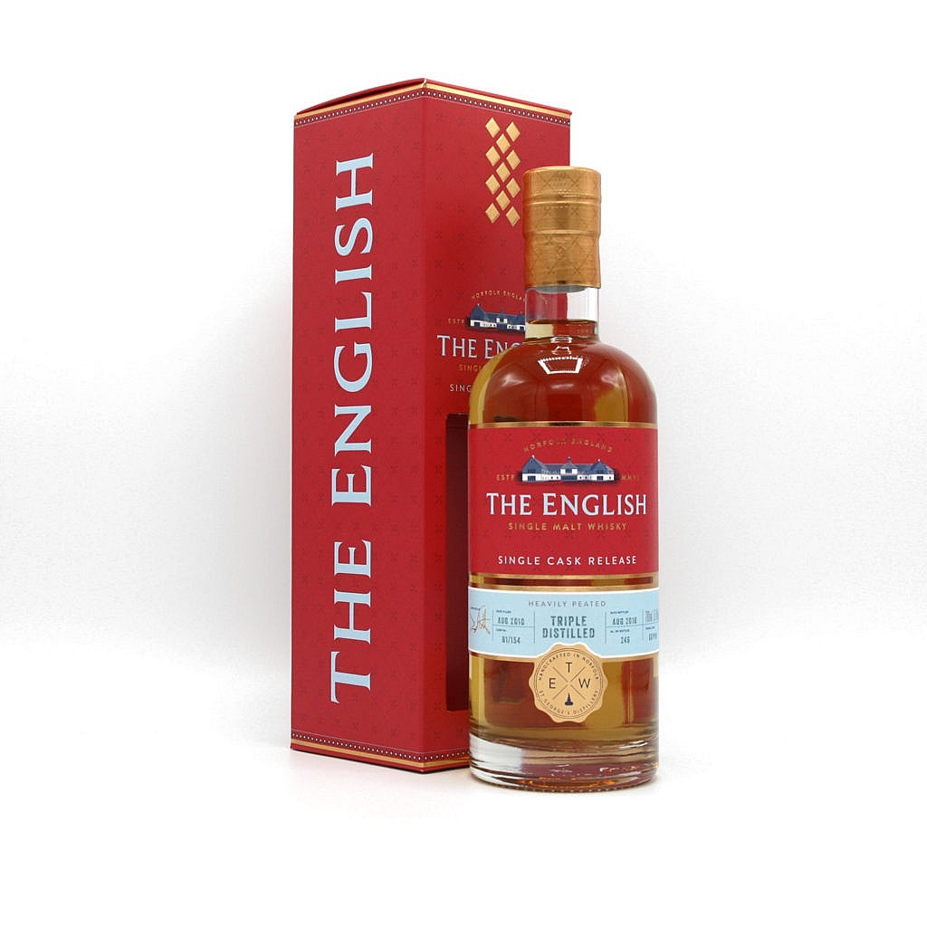 Fles & Case - Whisky - The English Whisky Company - Red Range - CS Smoked Triple Distilled - 0,7l - 58,1%