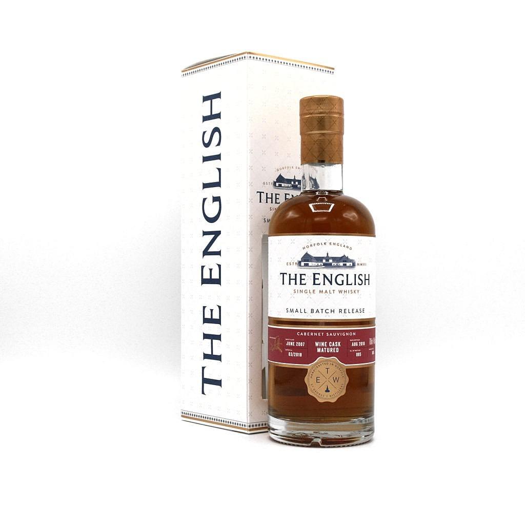Fles & Case - Whisky - The English Whisky Company - SB - Unpeated - Portuguese Cabernet Sauvignon - 11y - 0,7l - 58,1%