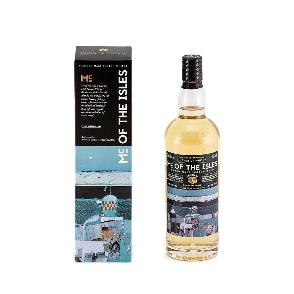 Fles & Case - Whisky - House of McCallum - Mcisles Rum Wood Cask Finish - 0,7l - 43,5%