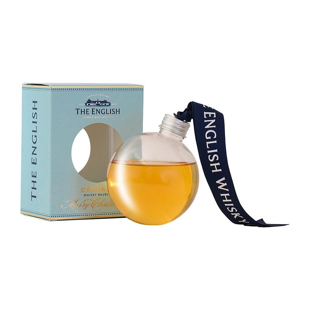 Kerstbal-Fles & Case - Whisky - The English Whisky Company - Original Single Malt - 0,2l - 43%