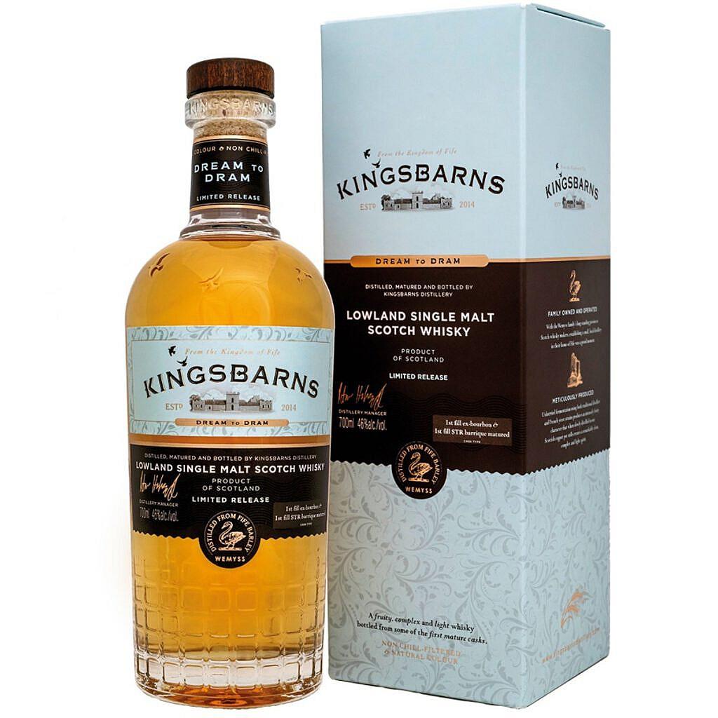 Fles & Case - Whisky - Kingsbarns - Dream to Dram - 0,7l - 46%