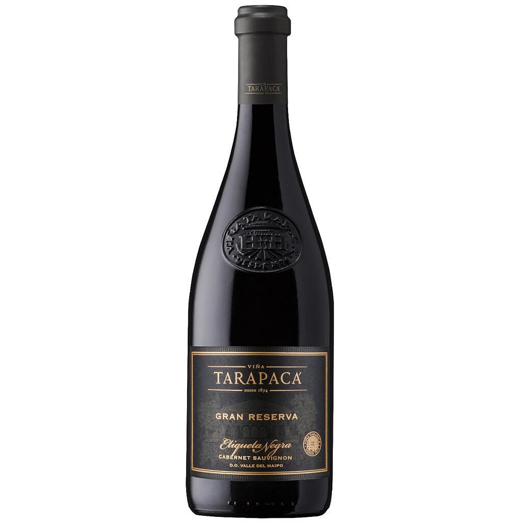 Fles - Wijnen - Chili - Tarapaca - Grand Reserva - Sauvignon Black Label in kist - 0,75 l