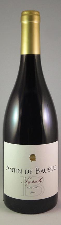 Fles - Wijnen - Frankrijk - ICP OC Gascogne - Antin de Baussac - Syrah - Pays d'Oc - 0,75l